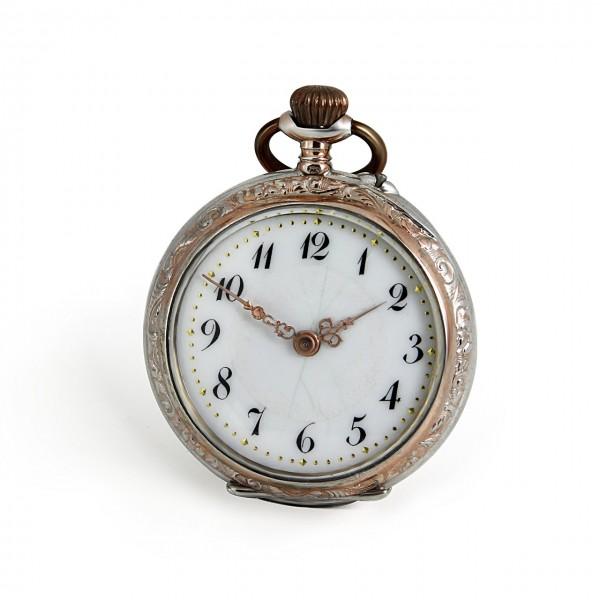 Taschenuhr 925/-Silber Teilvergoldet Antik 70200014