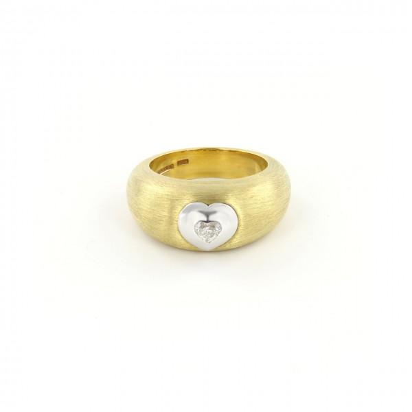 Heyder Exclusiv Damenring Herz aus 750-er Gelbgold