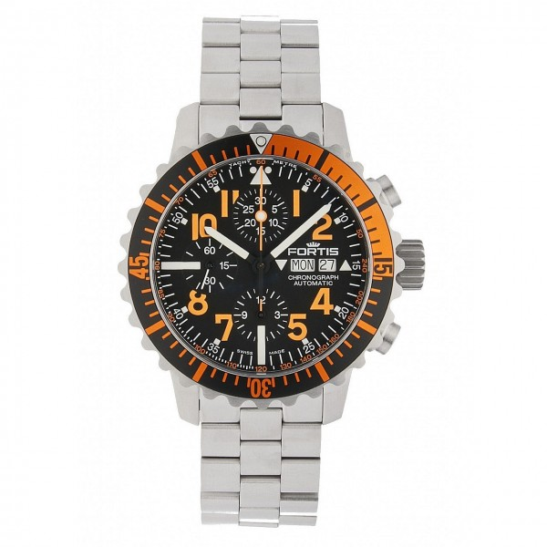 Fortis Aquatis Marinemaster Automatik Chronograph Orange 671