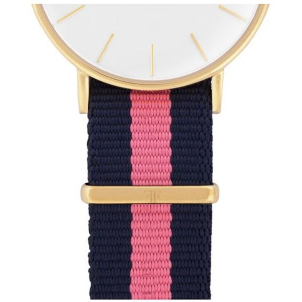 Faber Natoarmband-Textilarmband blau-rosa 18 mm FS603YG