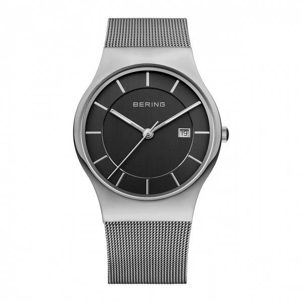 Bering Herrenuhr Classic Collection Milanaise schwarz