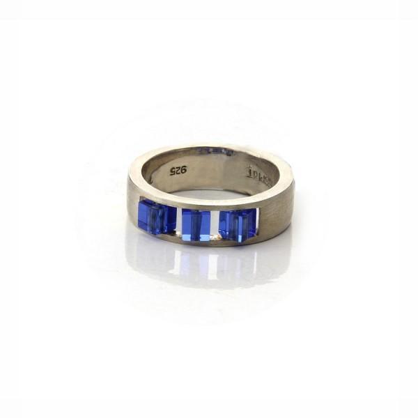 Esprit Damenring Silber/Blau 9018