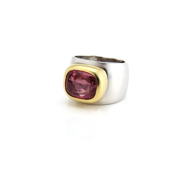 Damenring 750/-Weißgold  mit Turmalin 23207