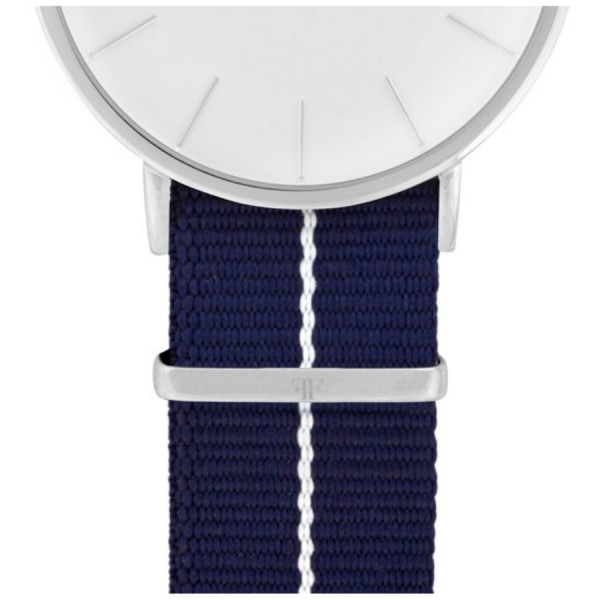 Faber Natoarmband-Textilarmband blau-weiß-blau 20 mm FS801SL