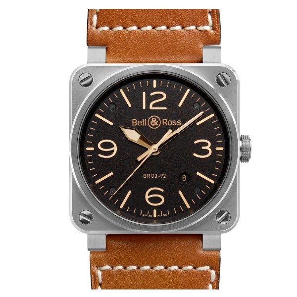 Bell & Ross Aviation Golden Heritage BR03-92-ST-G-HE