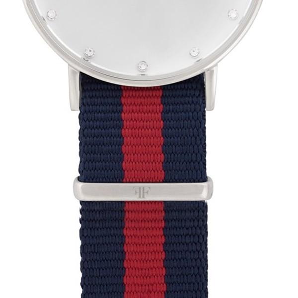 Faber Natoarmband-Textilarmband blau-rot 18 mm FS401SL