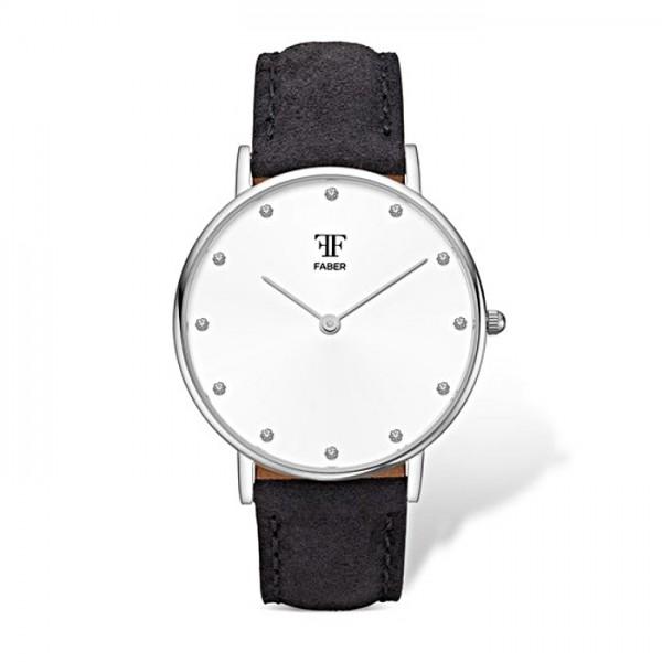 Faber Damenuhr - Armbanduhr mit Swarovski Elements F411SL