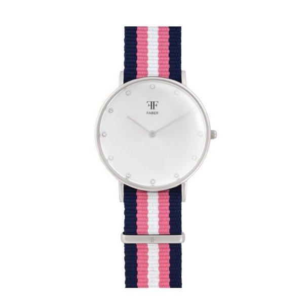 Faber Damenuhr - Armbanduhr mit Swarovski Elements F406SL