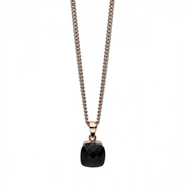 Qudo Halskette Firenze Spirit big black agate 402501