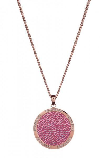 Qudo Halskette Ciro Kreis electric pink 220942