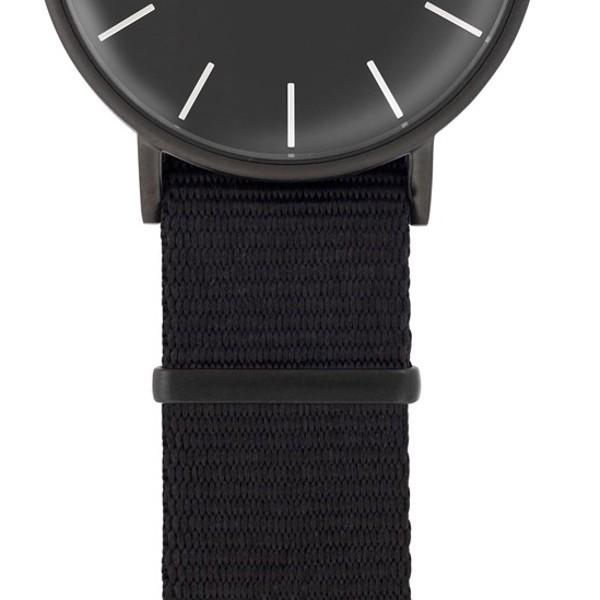 Faber Natoarmband - Textilarmband schwarz 18 mm