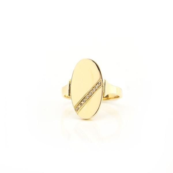Damenring 585/-Gelbgold mit Brillanten 55232