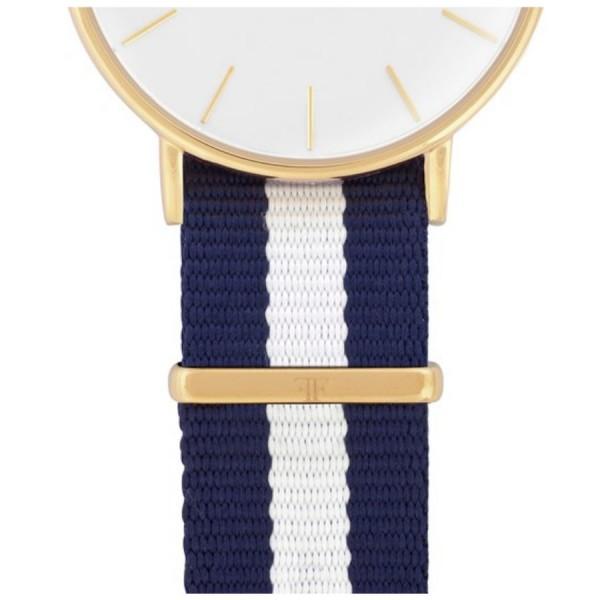 Faber Natoarmband-Textilarmband blau-weiß-blau 18 mm FS602YG