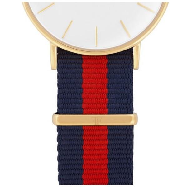 Faber Natoarmband-Textilarmband blau-rot-blau 18 mm FS601YG