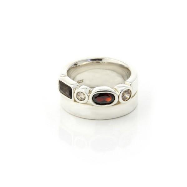 Joop! Ring Silber/Braun JJ0427