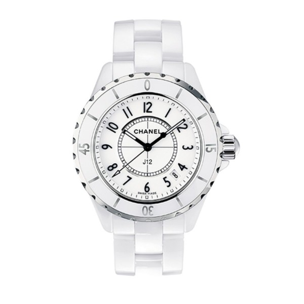 CHANEL J12 WEISS AUTO 33 MM H0968