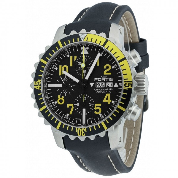 Fortis Aquatis Marinemaster Chronograph Yellow 671.24.14 L.0