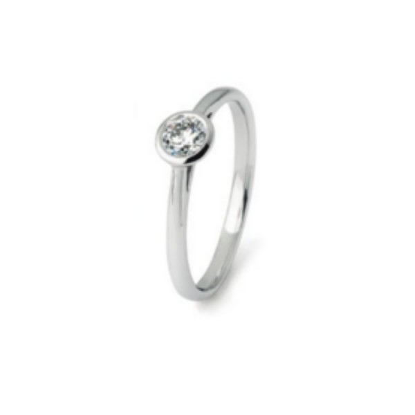 Damenring Engagement Diamonds Classic 0.10 ct.
