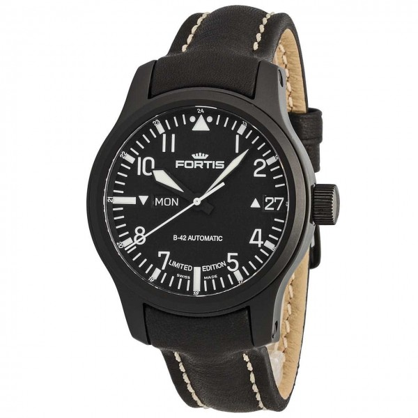 Fortis B42 Flieger Black Automatic DayDate Limited Edition 6