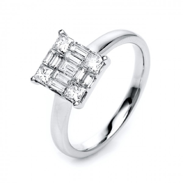 Heyder Exclusiv Diamantring Illusion 750/-WG 1K426W8-1