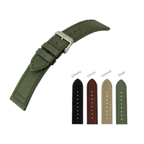 Textilarmband Canvas - Uhrenarmband 20 mm