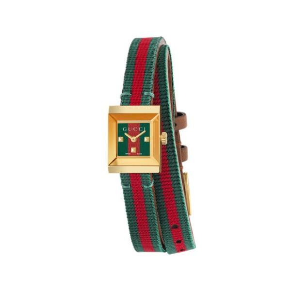 Gucci G-Frame Damenuhr klein quadratisch YA128527