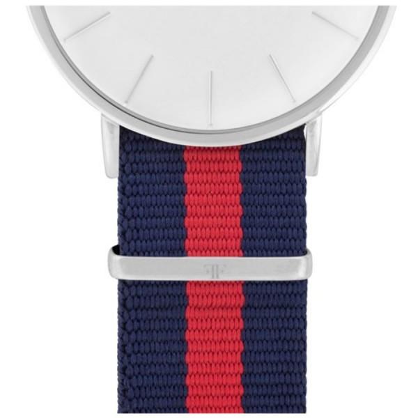 Faber Natoarmband-Textilarmband blau-rot-blau 20 mm FS802SL