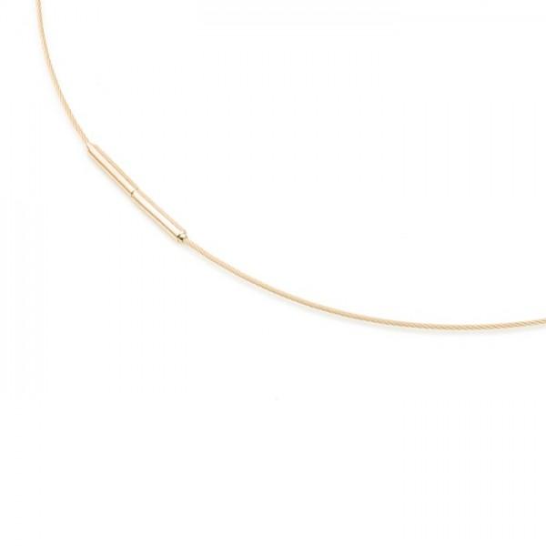 Boccia Collier goldplattiert 0802-02