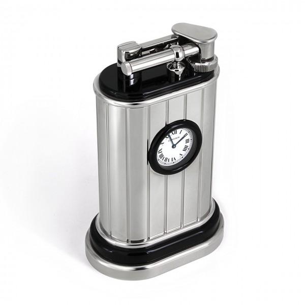 Cartier Tischfeuerzeug mit Uhr CA120119