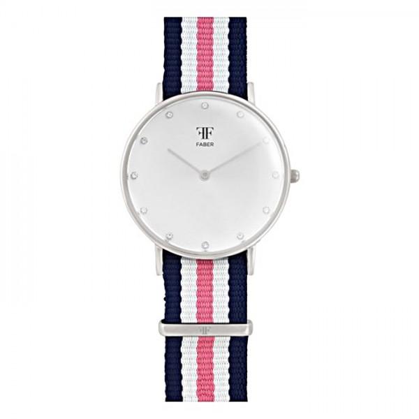 Faber Damenuhr - Armbanduhr mit Swarovski Elements F405SL