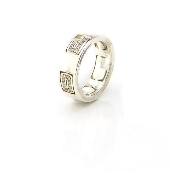Joop! Ring aus Silber mit funkelnden Zirkoniasteinen JJ0386