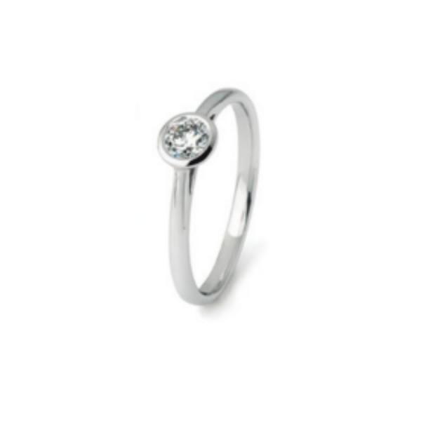 Damenring Engagement Diamonds Classic 0.25 ct.