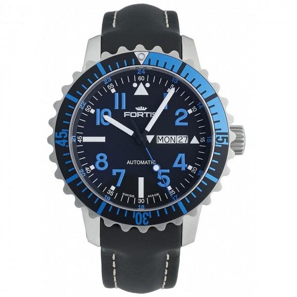 Fortis Aquatis Marinemaster DayDate Blue 670.15.45 L.01