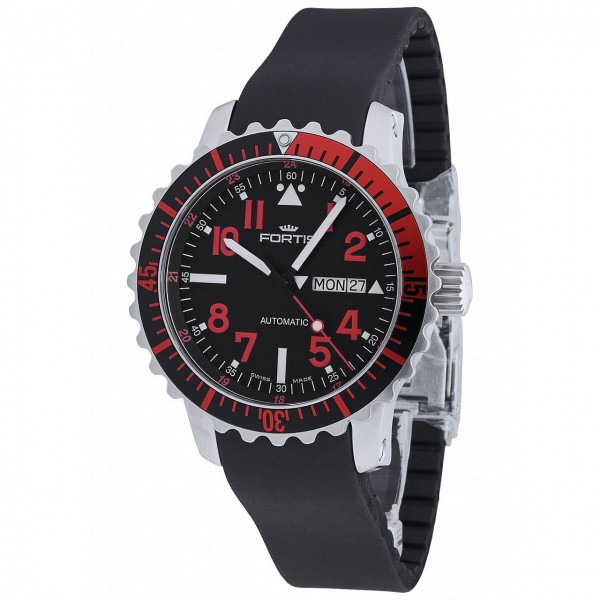Fortis Aquatis Marinemaster DayDate Red 670.23.43 K
