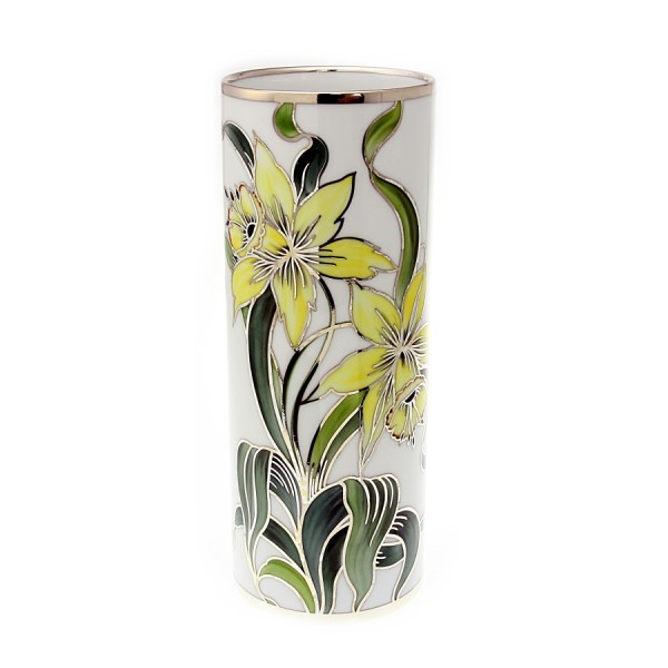 Blumenvase aus handbemalten Porzellan