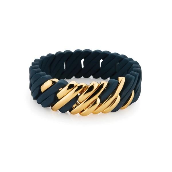 The Rubz Armband Pixel - Navy & Gold