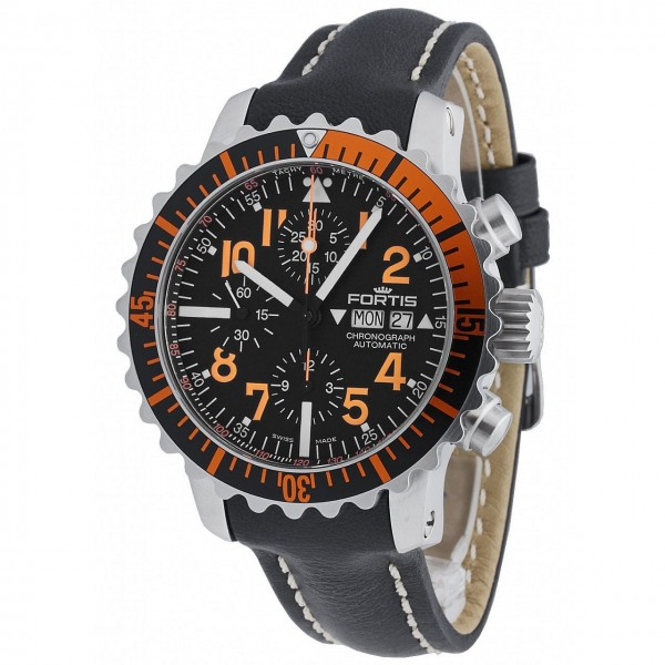 Fortis Aquatis Marinemaster Chronograph Orange 671.19.49 L.0