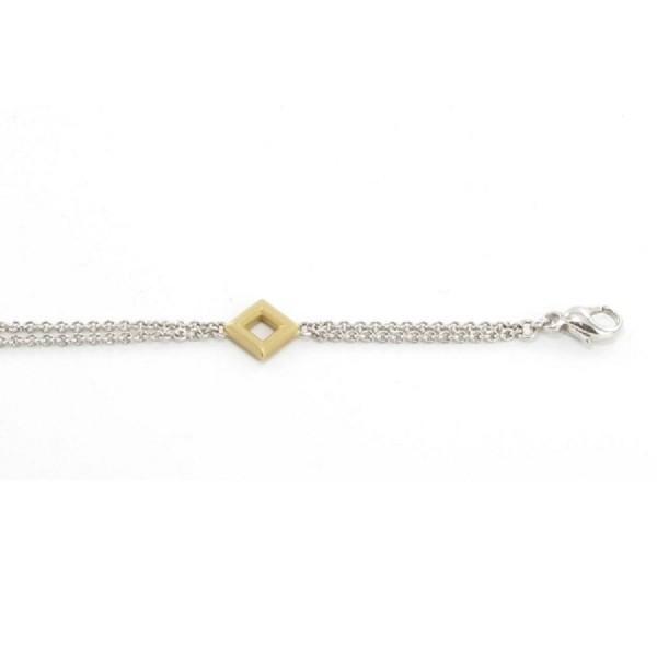 Wilhelm Mülle Armband Weiß- und Gelbgold 5016010